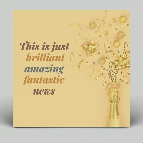Congratulations Card, Good News, Amazing, Brilliant, Well Done